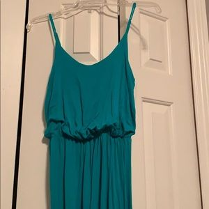 Turquoise blue maxi dress